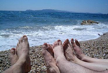 na plaži